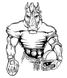 Football Horse Mascot Decal / Sticker 5