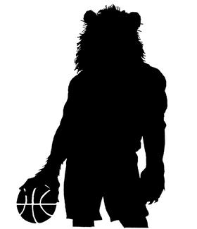 Basketball Lions Mascot Decal / Sticker 1