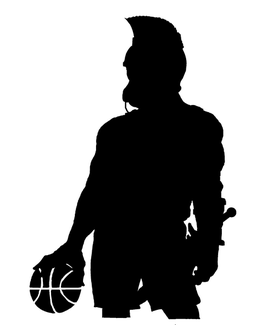Basketball Paladins / Warriors Mascot Decal / Sticker 2
