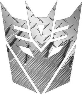 Silver Carbon Plate Decepticon Decal / Sticker
