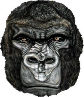 Gorilla Decal / Sticker 02