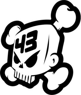 Ken Block 43 Skull Decal / Sticker 08
