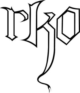 Randy Orton RKO Decal / Sticker 02