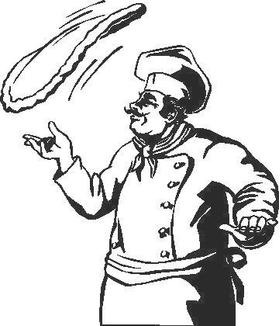 Pizza Man Decal / Sticker