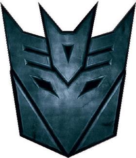 Transformers Decepticon 06 (small) Decal / Sticker