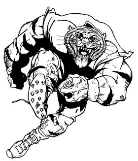 Football Tigers Mascot Decal / Sticker 6