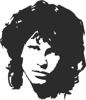 Jim Morrison Decal / Sticker