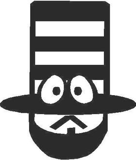 Mr. Hat Decal / Sticker