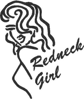 Redneck Girl Decal / Sticker 02