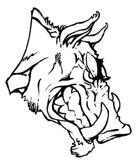 Razorbacks Mascots Decal / Sticker