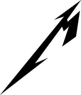 Metallica M Decal / Sticker 12