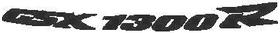 Curved GSXR1300 Suzuki Hayabusa Decal / Sticker
