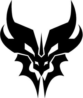 Decepticon Predaking Decal / Sticker 01