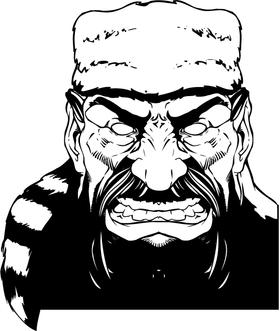 Frontiersman Mascot Head Decal / Sticker