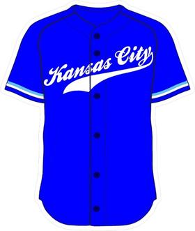 00 Royal Blue Kansas City Jersey Decal / Sticker