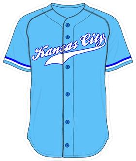 00 Powder Blue Kansas City Jersey Decal / Sticker
