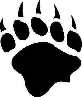 Bear Claw Print Decal / Sticker