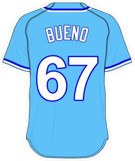 67 Francisley Bueno Powder Blue Jersey Decal / Sticker