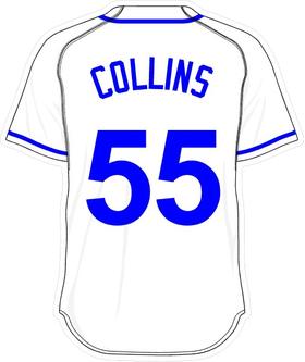 55 Tim Collins White Jersey Decal / Sticker