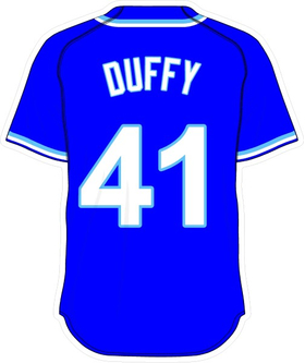 41 Danny Duffy Royal Blue Jersey Decal / Sticker