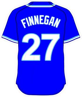 27 Brandon Finnegan Royal Blue Jersey Decal / Sticker