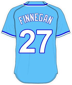 27 Brandon Finnegan Powder Blue Jersey Decal / Sticker