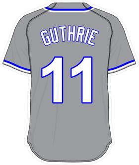 11 Jeremy Guthrie Gray Jersey Decal / Sticker