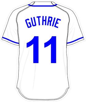 11 Jeremy Guthrie White Jersey Decal / Sticker