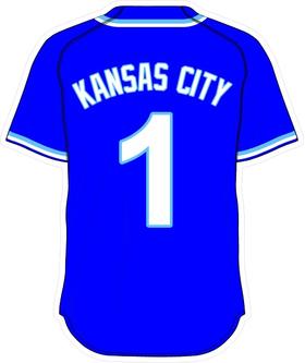 1 Kansas City Royal Blue Jersey Decal / Sticker