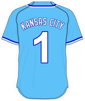 1 Kansas City Powder Blue Jersey Decal / Sticker