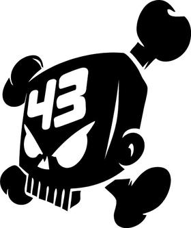 Ken Block 43 Skull Decal / Sticker 06
