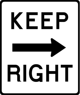 Keep Right Decal / Sticker 01