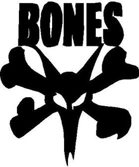 Bones Bearings Decal / Sticker 01