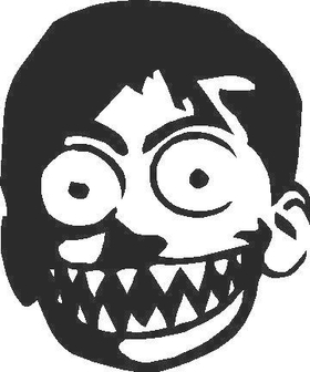 Crazy Kid Decal / Sticker