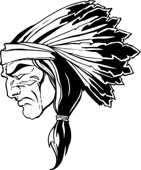 Chiefs Head Mascot Decal / Sticker