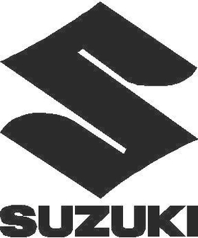 Suzuki Stacked Logo and Lettering Decal / Sticker 02