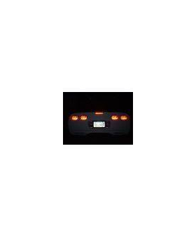 C5 Flaming Rear set of 7 Light Covers