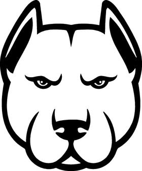 Pitbull Decal / Sticker 08