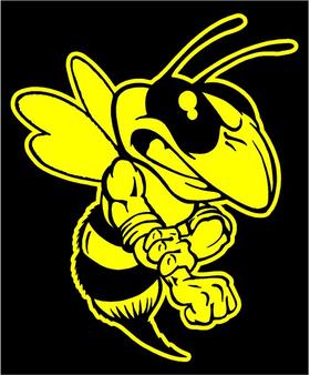 Hornet, Yellow Jacket, Bee Mascot Decal / Sticker