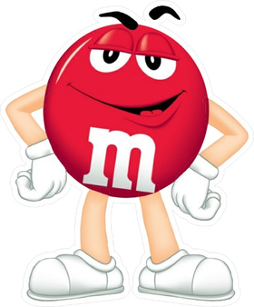 Red M&M Decal / Sticker 43