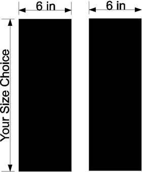 6 Inch Dual Racing Stripe Decal / Sticker