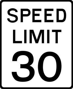 30 MPH Speed Limit Sign Decal / Sticker a