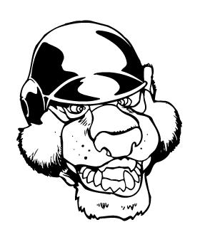 Bear Baseball Helmet Mascot Decal / Sticker