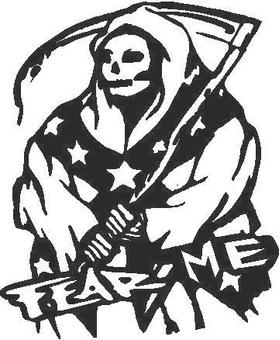 Fear Me Grim Reaper Decal / Sticker