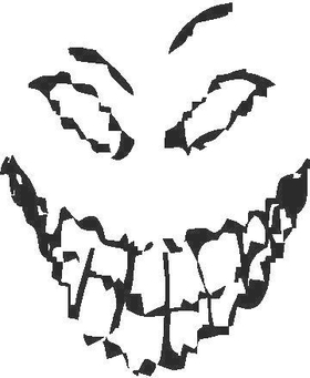 Disturbed Face Decal / Sticker