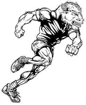 Track Buffalo Mascot Decal / Sticker tf1