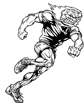 Track Comets Mascot Decal / Sticker 2