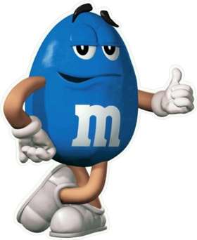 Blue Peanut M&M Decal / Sticker 23