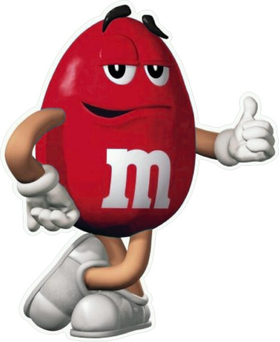 Red M&M Decal / Sticker 35