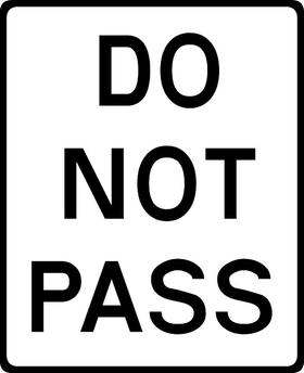 Do Not Pass Decal / Sticker 01